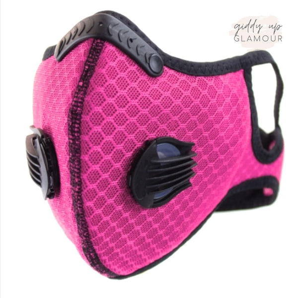 Get Active Mesh Sports Face Covering in Pink