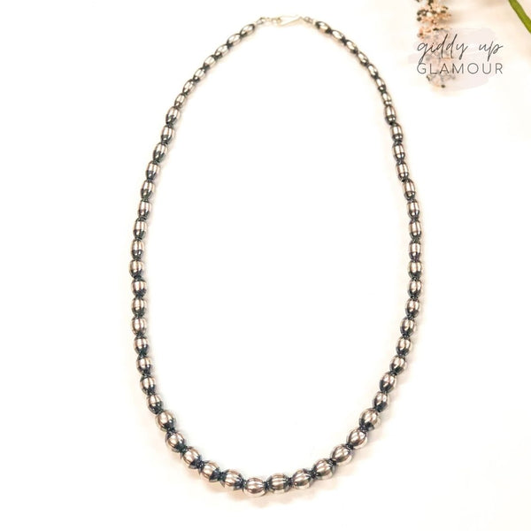 Navajo | Authentic Native American Graduated Oval Navajo Pearl Necklace | 18 inches