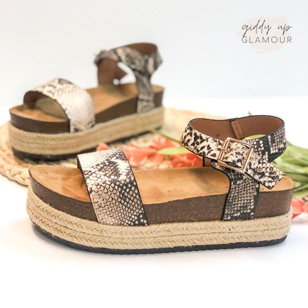 SIZE 7 & 8.5 | Meet Me in Cabo Espadrille Sandals in Snakeskin