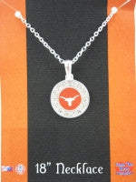 Colliegiate Jewelry - UT Longhorns Necklace with Crystals