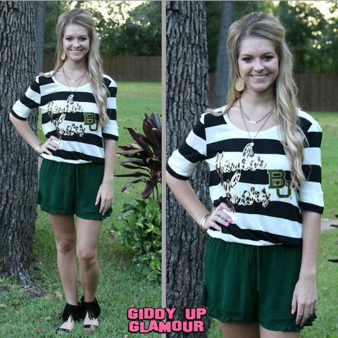 Game Day Collection: Stripe A Pose Baylor Tee