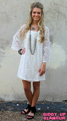 Lace The Facts Dress in White