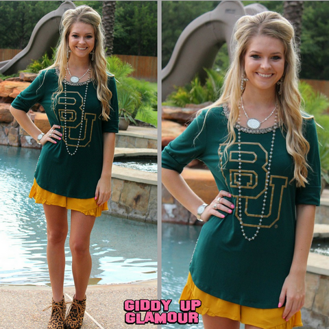 Game Day Collection: On With The Show Baylor Beaded Tee
