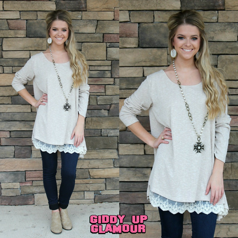 A Fall Affair Flair Sweater Tunic in Ivory