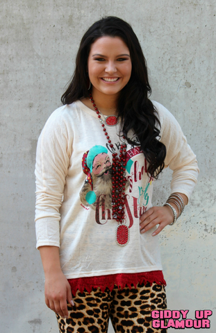 Holly Jolly Christmas Dolman Top