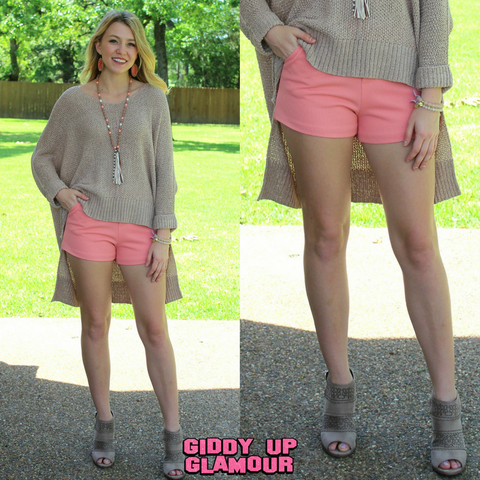 Mind Made Up Shorts in Coral