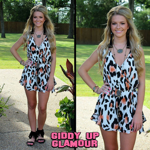 Easy Decision Print Romper in Leopard