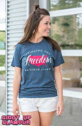 Freedom Since 1776 Navy Short Sleeve Tee Shirt