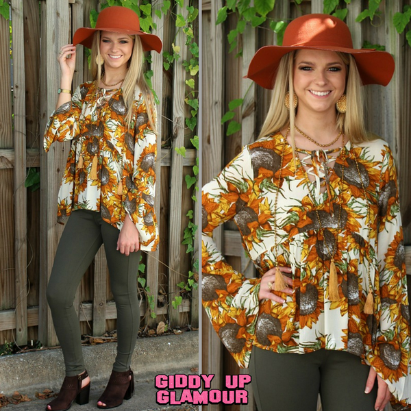 September to Remember Sunflower Blouse