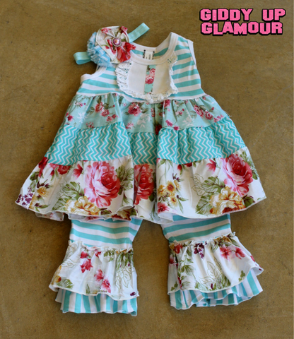 Children's Apparel: The Madison Dress in Turquoise - 3 Piece Outfit