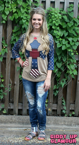 Justice For All American Flag Jeans