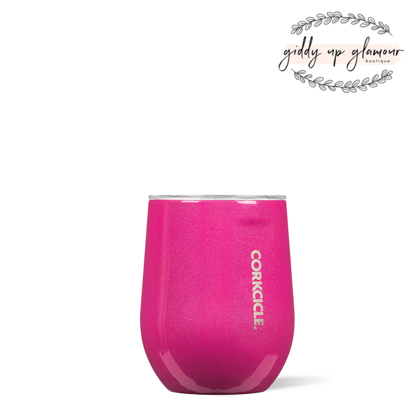 12 oz Corkcicle Unicorn Sparkle Collection | Stemless - Pink Dazzle