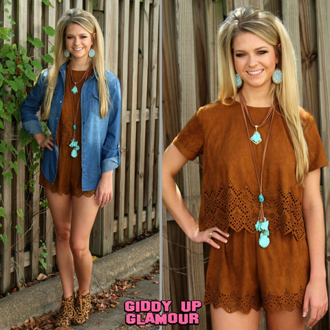Made in the Suede Tan Romper