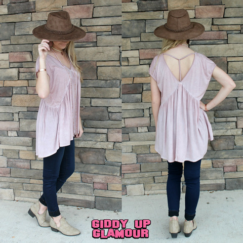 Old Fashioned Love Pink Babydoll Top