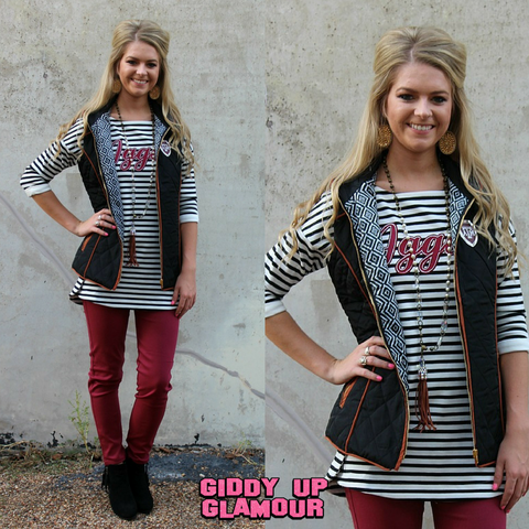 Game Day Collection: Texas A&M Kick It In Reverse Puff Vest with Tan Piping