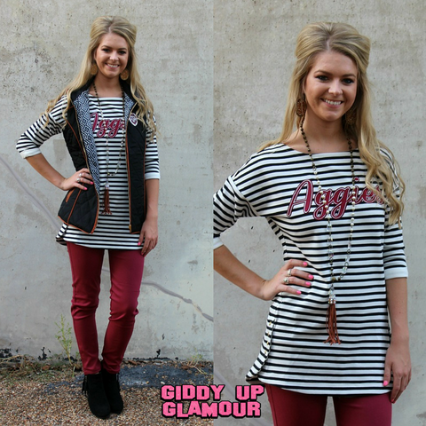 Game Day Collection: Texas A&M Show Your Stripes Top