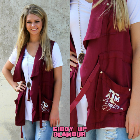 Game Day Collection: Dressed to Impress Texas A&M Vest