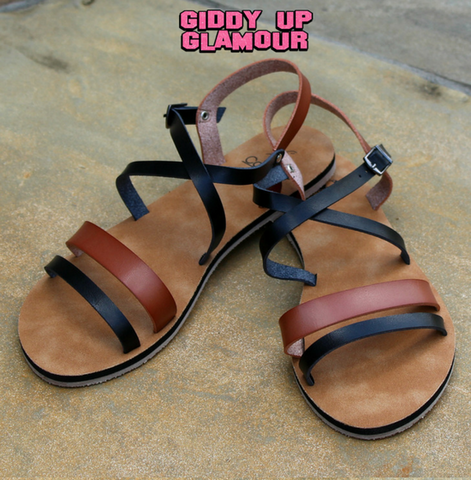 Cabos Sandals in Brown and Tan
