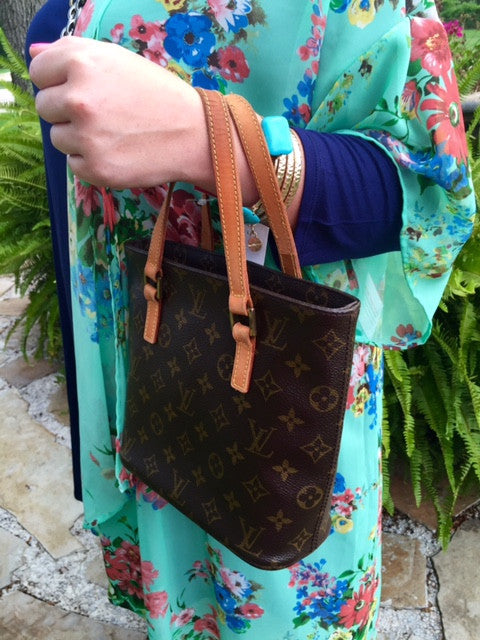 Authentic Used Louis Vuitton Vavin PM Arm Tote In Monogram With - Make a free invoice pdf online louis vuitton online store