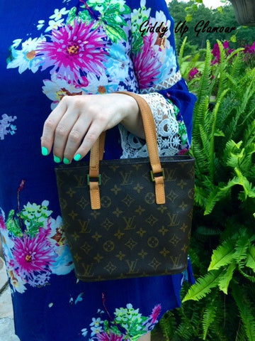 Authentic Used Louis Vuitton Vavin PM Arm Tote in Monogram