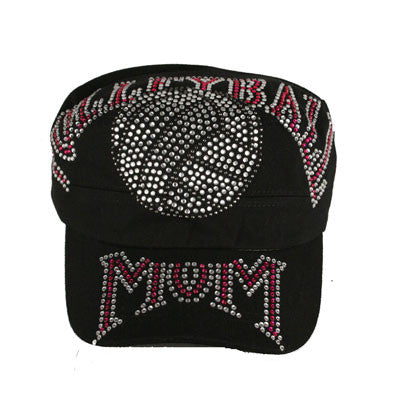 Super Crystallized Volleyball Mom Cadet Style Cap