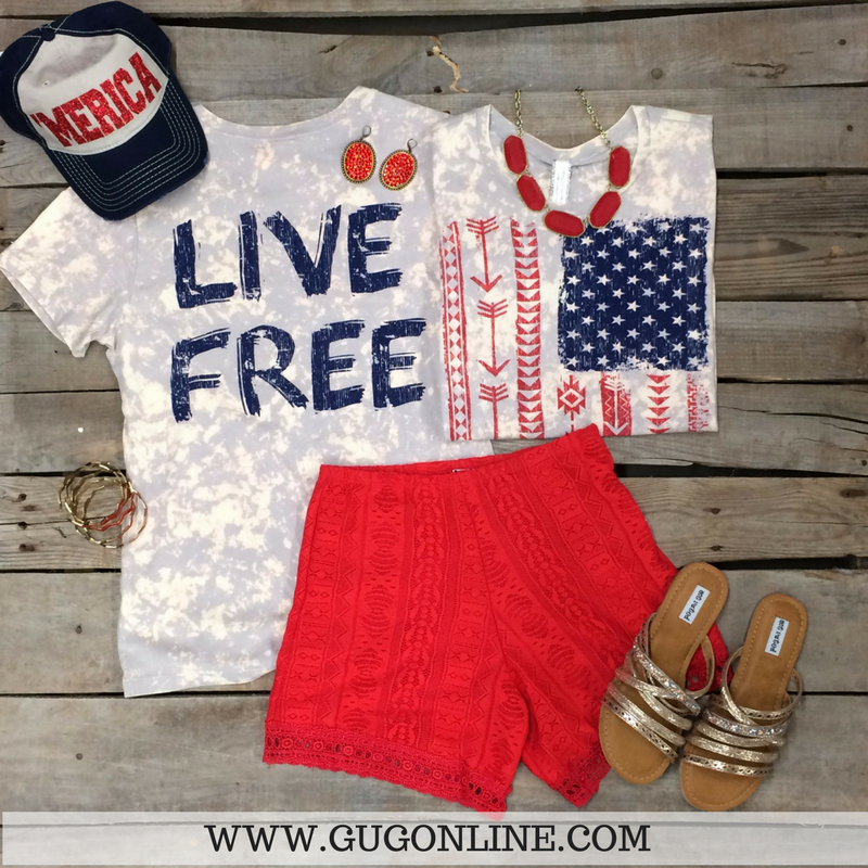 American Girl Clothes | 4th Of July Clothes | Red, White And Blue Themed Clothing | Patriotic Jewelry And Accessories