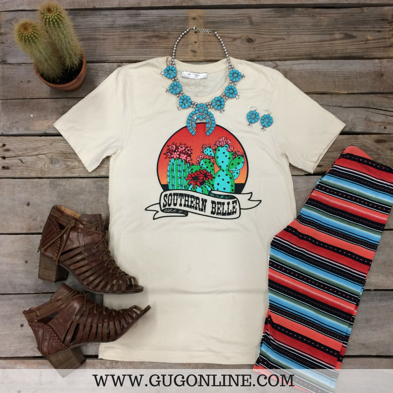 0c34f717 Southern Belle Short Sleeve Tan Tee Shirt – Giddy Up Glamour Boutique