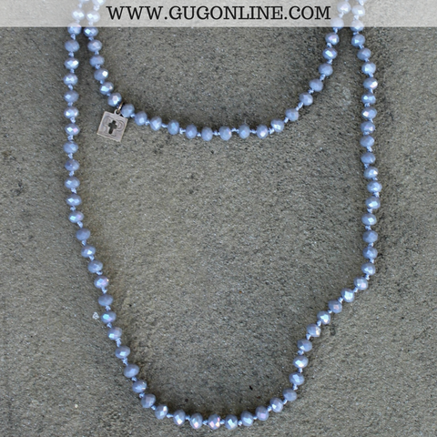 Pink Panache 62 Inch Crystal Layering Necklace in Grey
