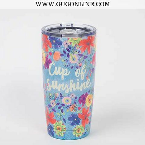 Cup of Sunshine Floral Tumbler