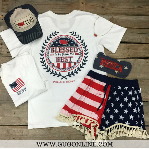 Blessed To Be From The Best USA Short Sleeve Tee Shirt