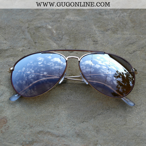 The Abby Aviator Sunglasses in Brown