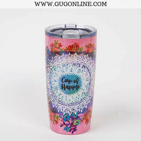 Cup of Happy Floral Tumbler