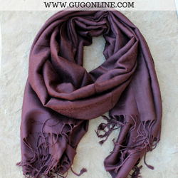 Solid Brown Pashmina Scarf
