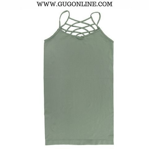 Crossing The Limits Strappy Camisole in Sage