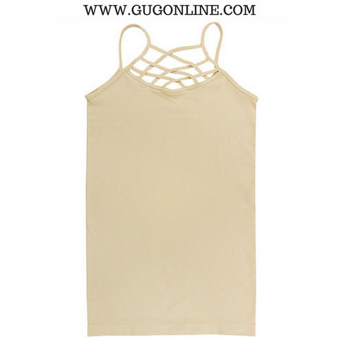 Crossing The Limits Strappy Camisole in Cream Almond