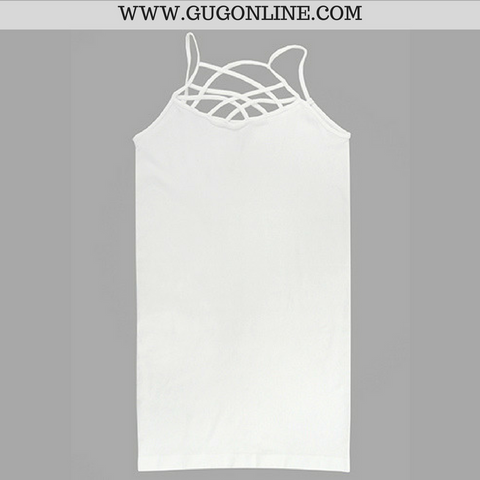 Crossing The Limits Strappy Camisole in White