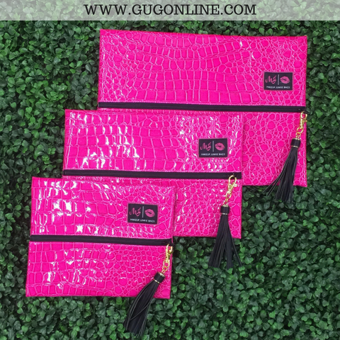 Make Up Junkie Meredith Hot Pink Bags