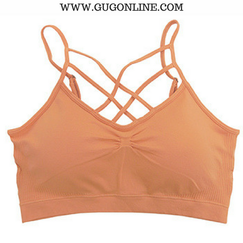 Give A Little More Padded Caged Bralette in Tangerine