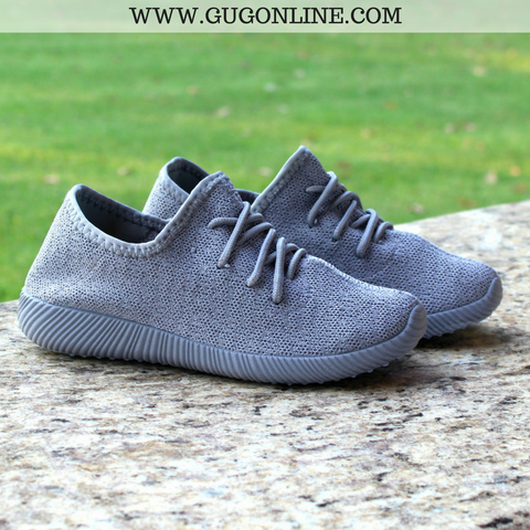 In The Running Tennis Shoes in Grey - Size 7 Only