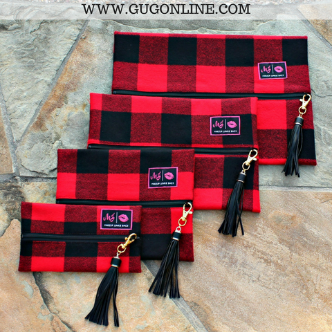 Make Up Junkie Fireside Flannel Plaid Bags