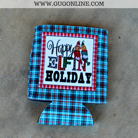 Happy Elfin' Holiday Koozie