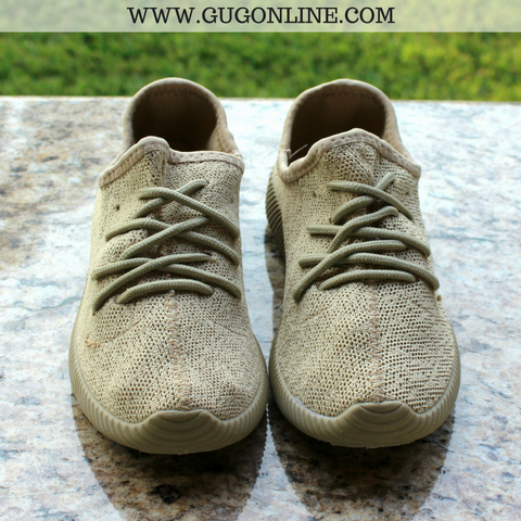 In The Running Tennis Shoes in Taupe - lots of sizes