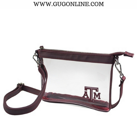 Texas A&M University Small Crossbody Clear Stadium Bag
