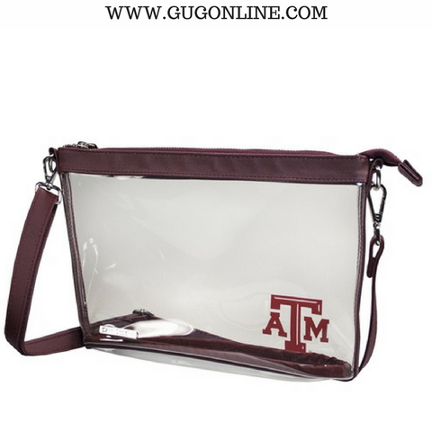 Texas A&M University Large Crossbody Clear Stadium Bag