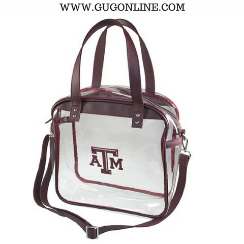 Texas A&M University Large Carryall Tote Clear Stadium Bag