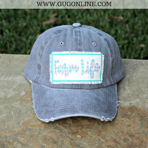 Farm Life Grey Baseball Cap
