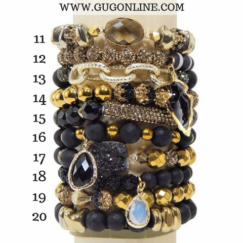 Stackable Crystal Bracelets - Boogie Knights Stick
