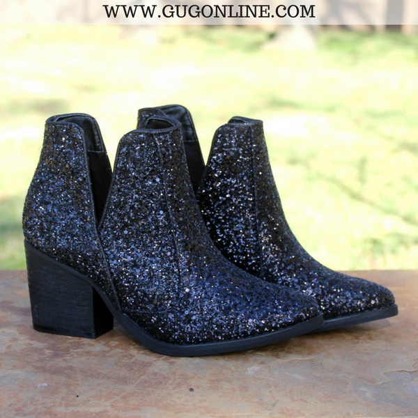 Not Rated Short Ankle Glitter Booties Boots
