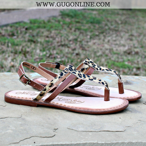Gemma Hair on Hide Sandal in Leopard
