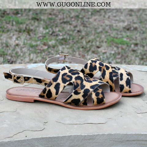 Cup of Tea Hair on Hide Sandal in Leopard